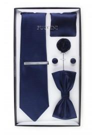 gift box tie set in navy blue