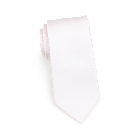 blush pink colored tie in narrow width