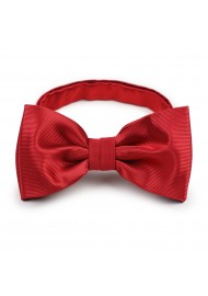 solid cherry red formal bow tie
