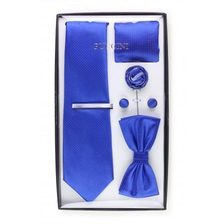groomsmen wedding tie set in royal horizon blue
