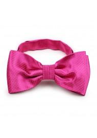 magenta pin dot bow tie