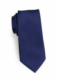micro dot necktie in slim cut in navy