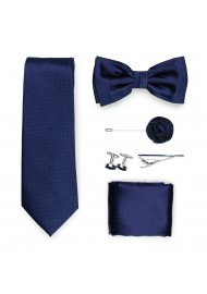gift menswear formal set in dark navy blue