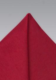 Hanky in Bold Sedona Red