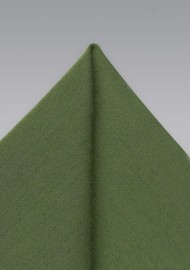 Olive Green Mens Hanky