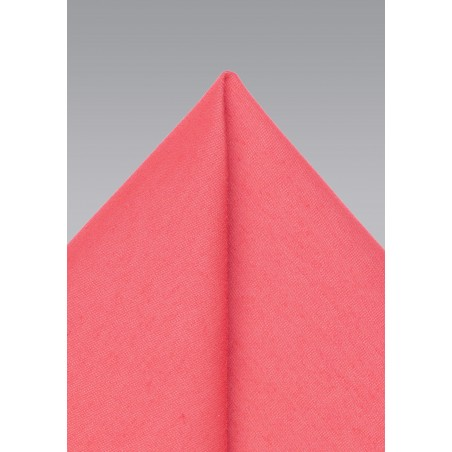 Summer Hanky in Sunset Coral