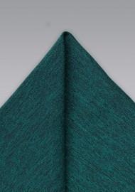 Elegant Gem Green Pocket Square