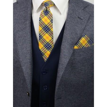 tartan plaid skinny tie styling tips