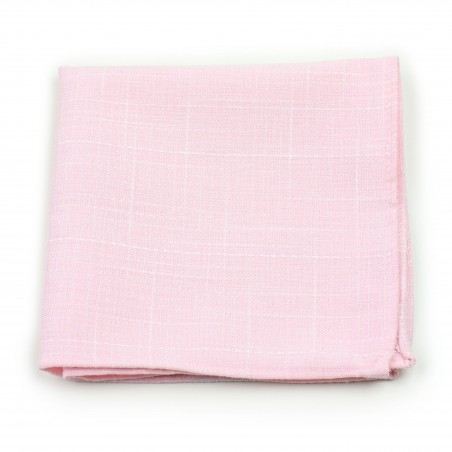 casual pink cotton suit hanky