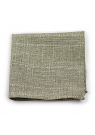 moss color pocket square in cotton