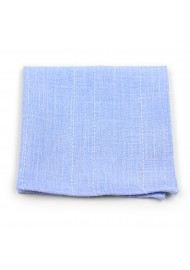 summer pocket square in cotton in sky light blue