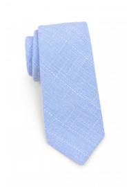 narrow tie in cotton in sky blue color
