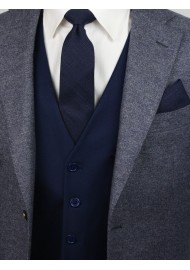 style tips for skinny navy blue ties