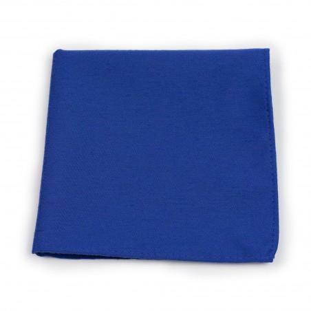 Marine Blue Woolen Textured Pocket Square