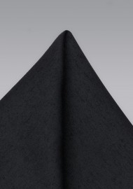 Classic Black Woolen Pocket Square