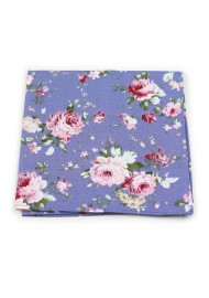 vintage summer cotton hanky with floral prints and roses
