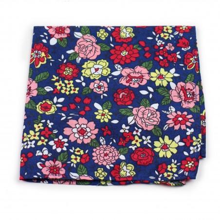 colorful flower print pocket square