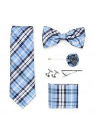 Wedding groomsmen gift set in powder blue