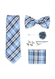 Wedding groomsmen gift set in powder blue