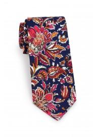 skinny cotton mens tie in vintage colors