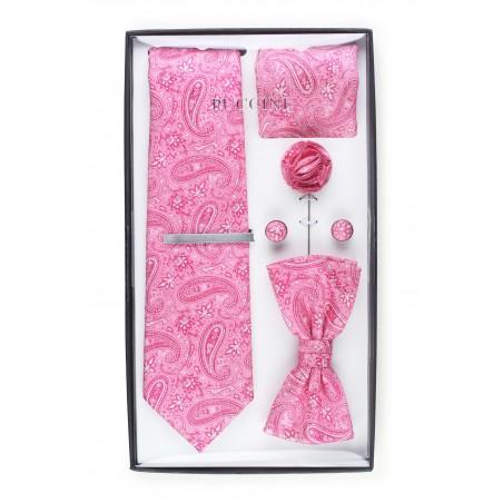 6-piece menswear set in geranium paisley