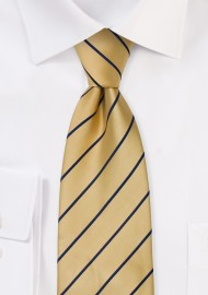 Golden Yellow and Navy XL Length Tie