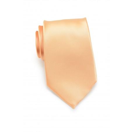 Apricot neckties - Solid apricot-orange tie