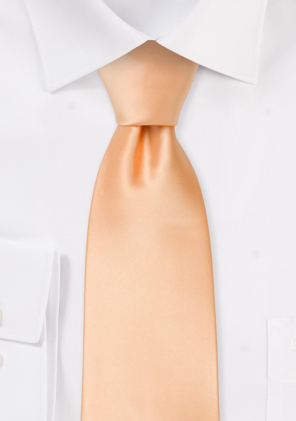 Solid Kids Tie in Apricot Orange