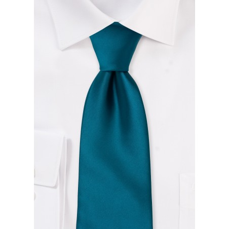 Solid color ties - Turquoise  blue necktie
