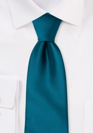 Dark Turquoise Blue Tie in XL