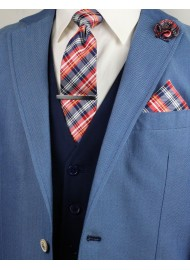 gift set for men in plaid pattern