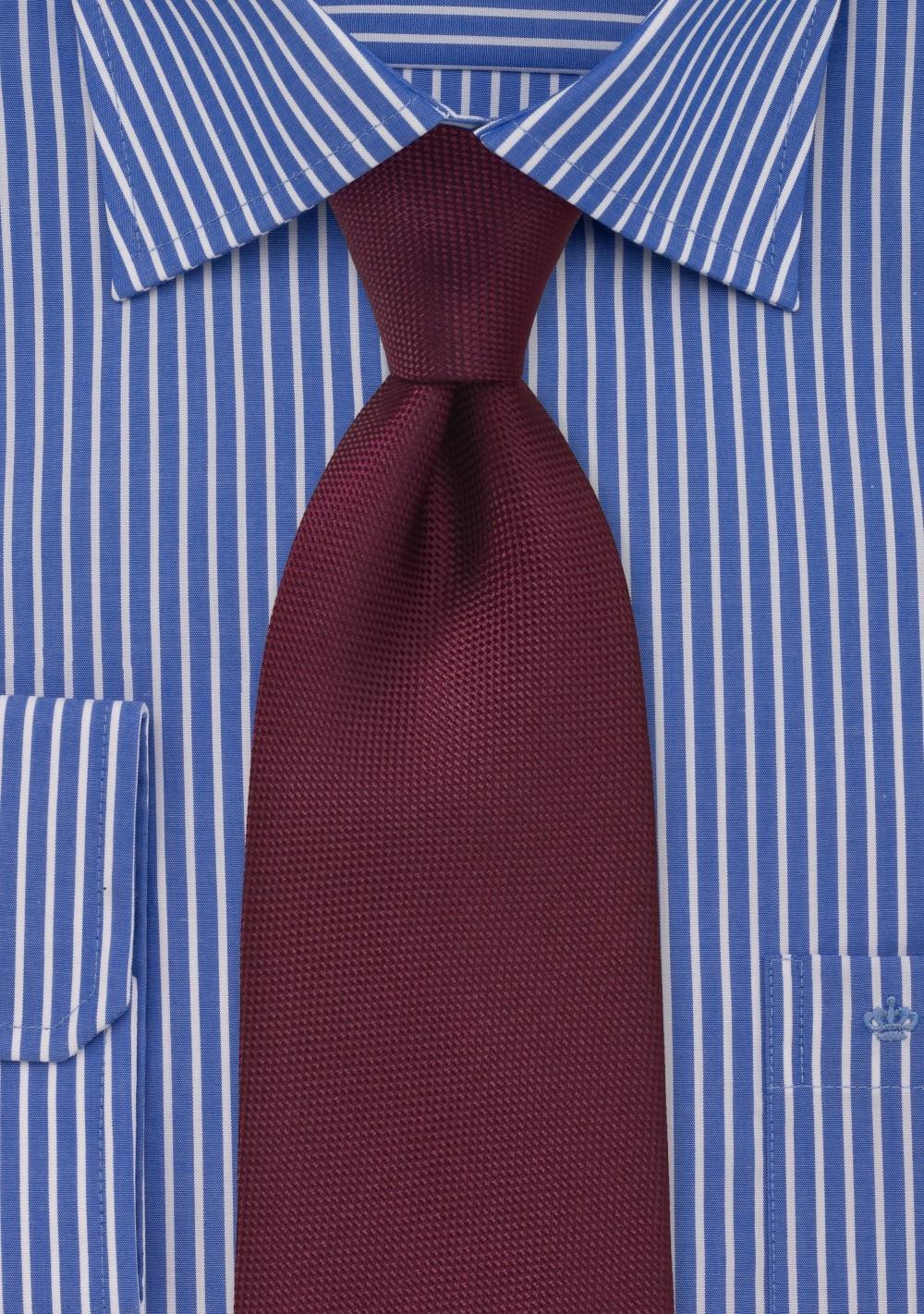 Solid Maroon Men's Tie | Cheap-Neckties.com