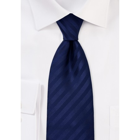 Blue mens ties - Solid color dark blue tie
