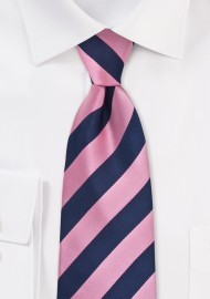 Trendy Tie in Pink and Blue