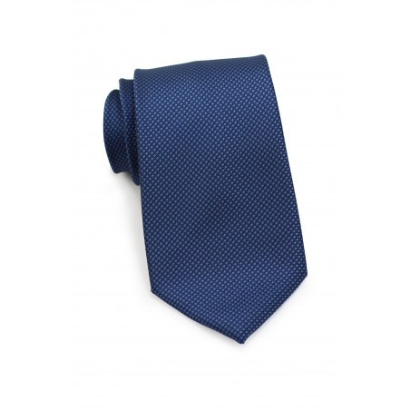 Navy Blue Kids Tie with Grenadine Texture