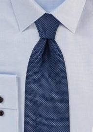 Navy Grenadine Textured Tie in XL