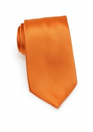 Solid Persimmon Orange Tie in XL