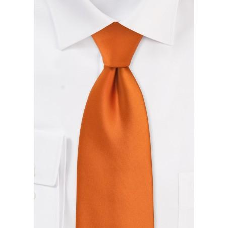 Kids Tie in Persimmon Orange