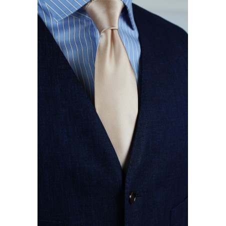 Champagne Tie in XL Length Styled