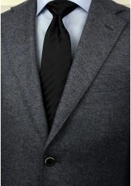 Extra long black tie - Stain resistant Microfiber necktie in solid black styled