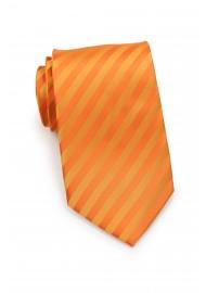 Orange Neckties - Bright Orange Mens Tie