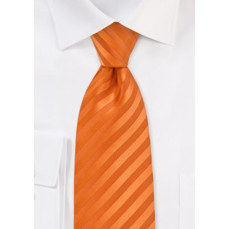 Extra Long Necktie in Bright Orange Color