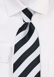 Classic Black and White Kids Necktie