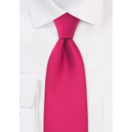 XL Tie in Magenta Pink