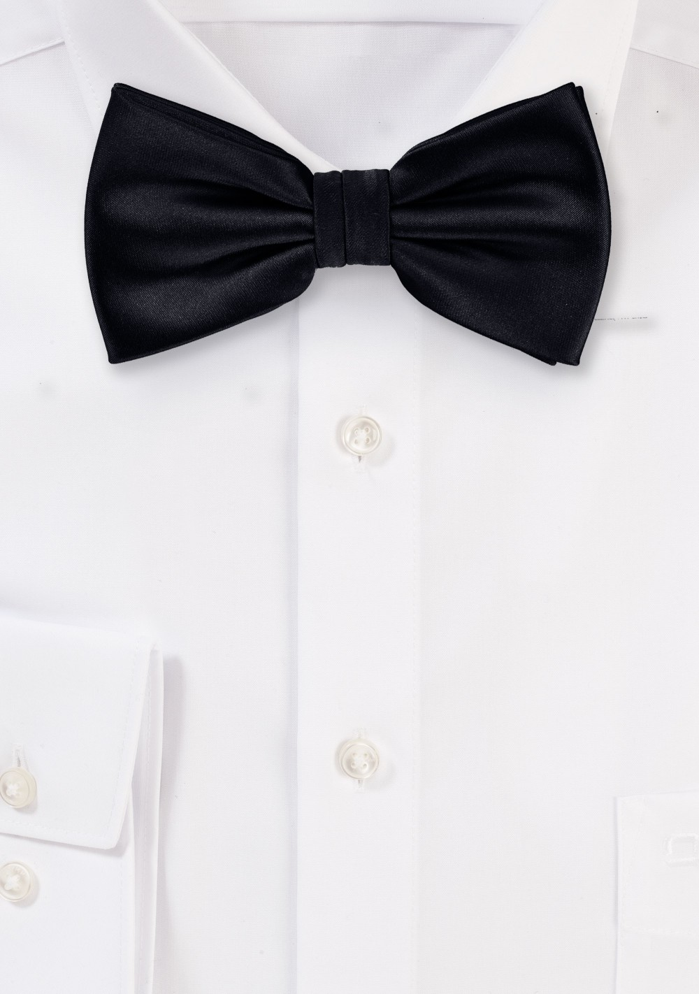Pre-Tied Black Bow Tie