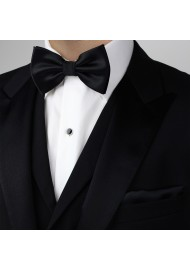 Pre-Tied Black Bow Tie Styled