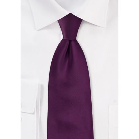 Bright Purple Necktie in XL Size