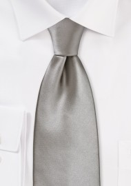 Mens Tie in Mercury Silver