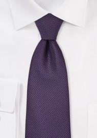 Grape Colored Tie with Grenadine Texture