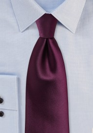 Plum Colored XL Tie